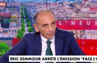 """""""Face à l'info"""", c'est fini : Eric Zemmour annonce qu'il quitte CNews (VIDEO)"""