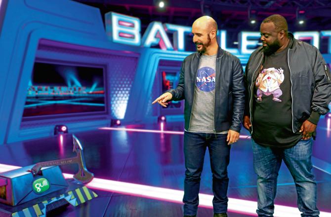 """Battlebots : Le Choc des robots (Gulli) Cartman : """"Ce « sport » est complètement fou !"""""""