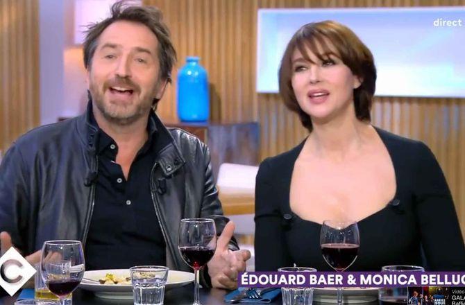 VIDEO - C à Vous : Edouard Baer raconte sa folle nuit passée avec Monica Bellucci à Madrid...