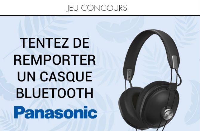 CONCOURS - Tentez de gagner un casque bluetooth Panasonic !