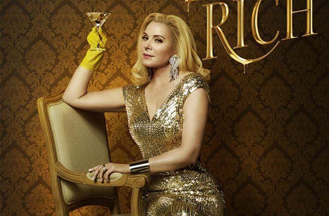 """Filthy Rich (Téva) Kim Cattrall : """"Cela fait du bien d'avoir une femme à la tête d'un empire"""""""