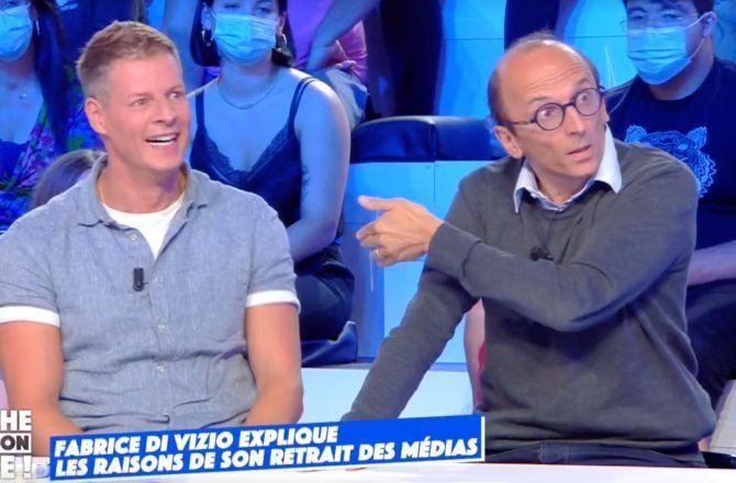 """""""Il se fout de ma gueule !"""" : Fabrice Di Vizio vexé par Matthieu Delormeau pour son retour dans TPMP (VIDEO)"""