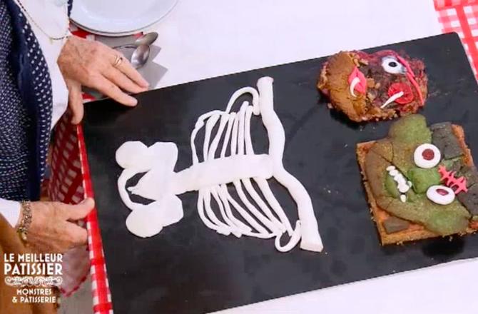Le Meilleur Pâtissier (M6)  Djellza présente un gâteau\u2026 en