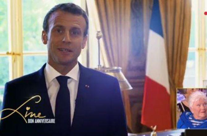 Video Emmanuel Macron Adresse Un Tendre Message A Line Renaud Pour